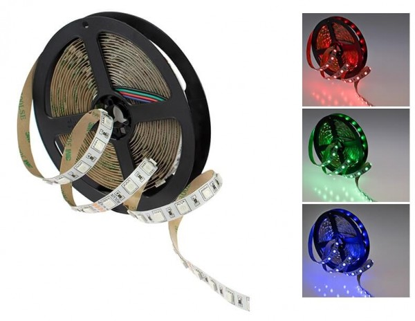 LED Streifen RGB 14,4W/m 24V (Rolle á 5m)