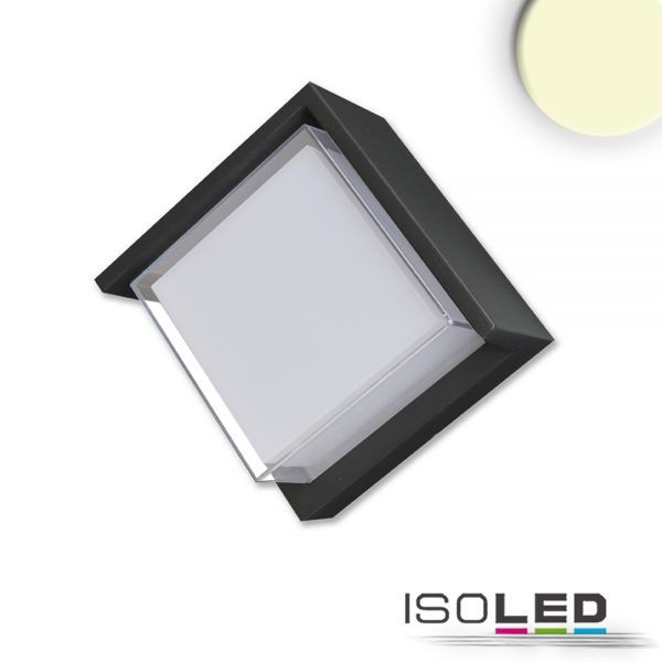 LED Wandleuchte Poller-6 6W eckig 110mm schwarz