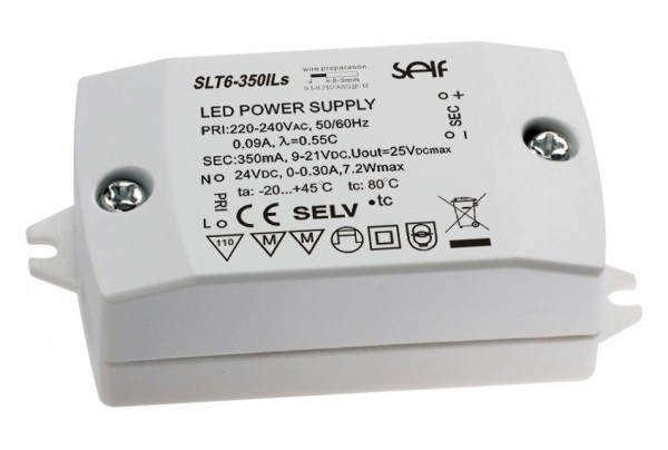 SLT6-350ILs LED Konverter 350mA/24V 6W SELF