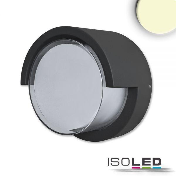 LED Wandleuchte Poller-6 6W rund 110mm schwarz