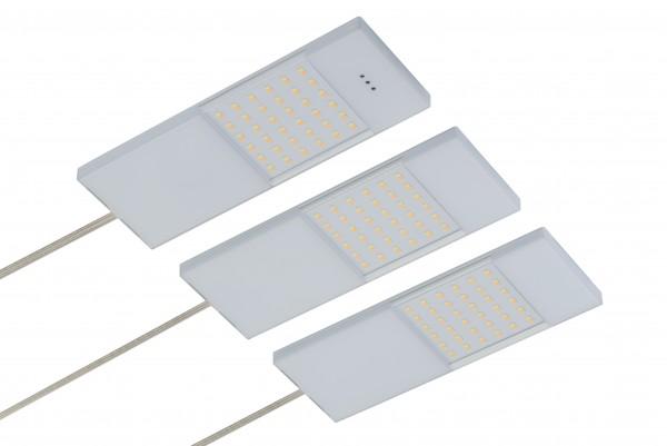 LED Unterbauset 3x 4W 3000K warmweiß 24V inkl. Konverter und IR-Sensor, dimmbar