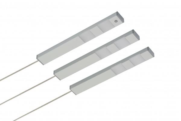 LED Unterbauset DF-1810 3x 2,5W 3000K warmweiß 24V inkl. Konverter und Druck-Zentralschalter