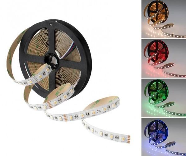 LED Streifen RGB-W 19,2W/m 24V (Rolle á 5m)