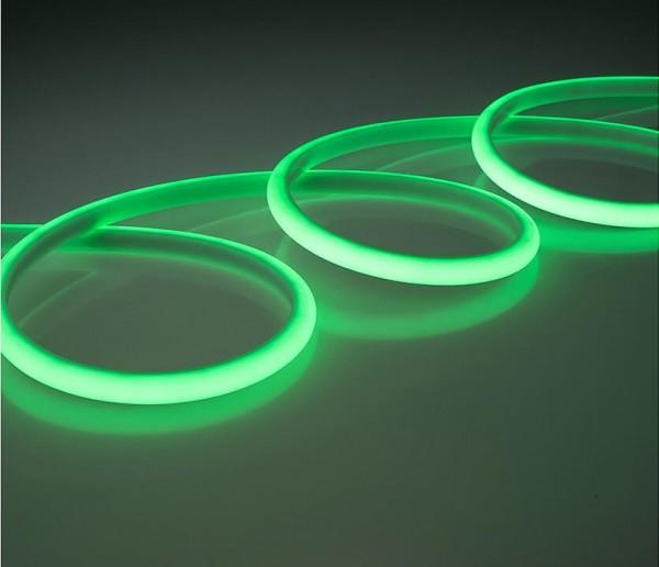 LED Silicon Lichtstreifen 14,4W/m grün 24V (Rolle á 5m)