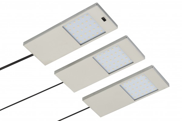 LED Unterbauset 3x 4W 3000K warmweiß 12V inkl. Konverter und IR-Sensor