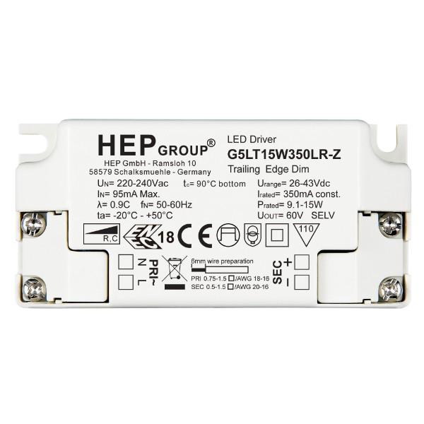 G5LT15W500LR-Z LED Konverter 500mA, 9-15W HEP - dimmbar Phasenabschnitt