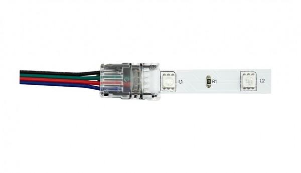 Anschlussverbinder/Clip 4-Polig für 10mm LED Streifen RGB