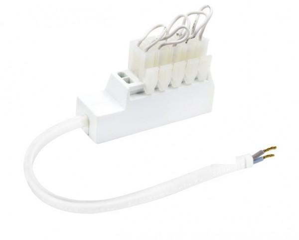6fach AMP Verteiler für Reihen-Schaltung inkl. 5 Brücken (CC)