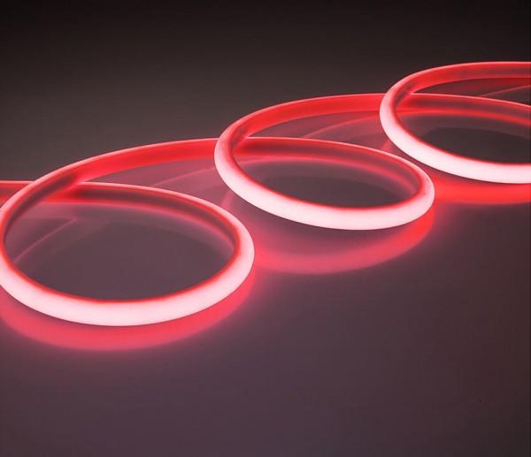 LED Silicon Lichtstreifen 14,4W/m rot 24V (Rolle á 5m)