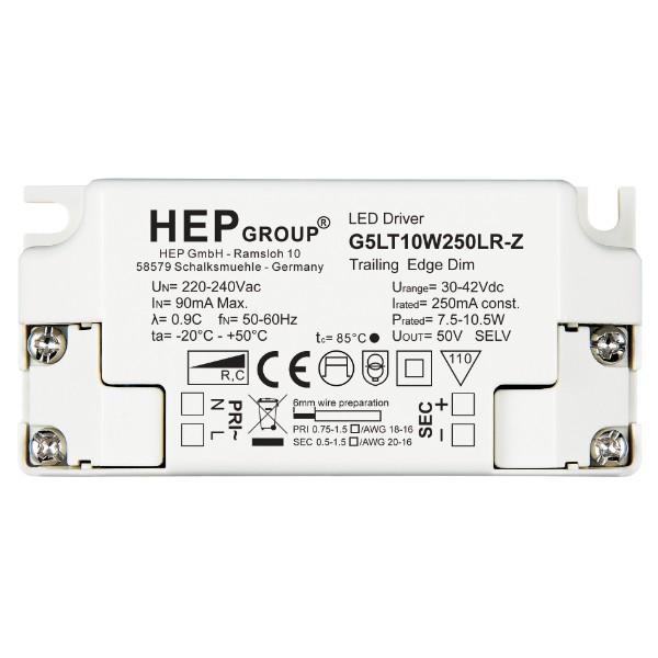 G5LT10W350LR-Z LED Konverter 350mA, 4,6-9,1W HEP - dimmbar Phasenabschnitt