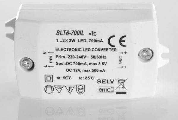 SLT6-700ILs LED Konverter 700mA/12V 6W SELF