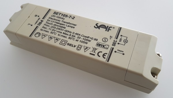 SET105-T-2 Halogen Konverter SELF für IKEA Glimt 20-105W Touchdimmer